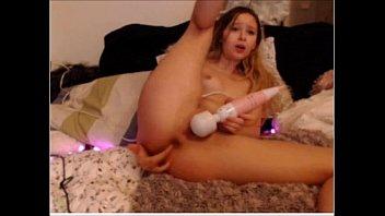 Sexy girl masturbates