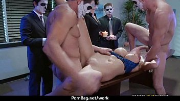 massive brassiere-stuffers ultra-cutie pulverizes her coworker in their.