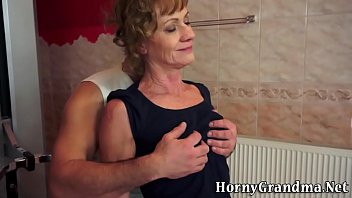 mature senior female deep throating