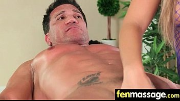 hubby cheats with masseuse in guest.