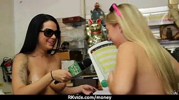 Sexy teen nails her butt on hard dick for cash 5