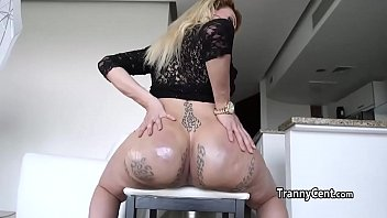 tgirl nutting with enormous bang stick in her bootie