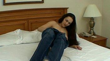 Beauty young brunette masturbation