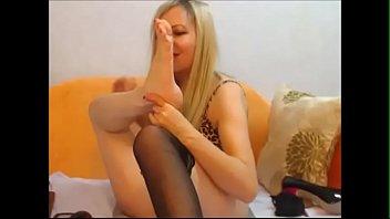 mature self feet adore light-haired -.