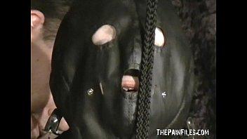 Extreme mature slave girls hooded breast bondage and vicious tit