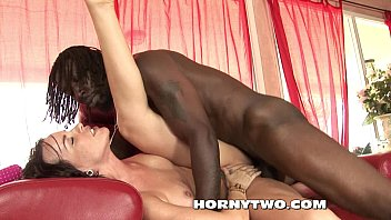 Teen whore gets anal from big black cock with Creampie