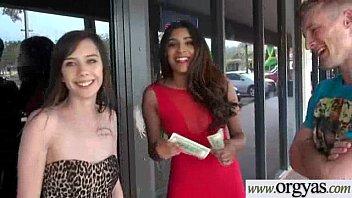 (Katalina Mills &amp_ Maya Mona) Slut Girl For Money Agree To Bang Hard On Cam clip-20