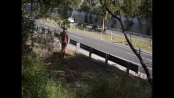public bareness by freeway
