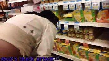 Black Ass Crack at the Market!