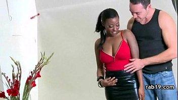 irresistable black wiggles her humungous ebony.