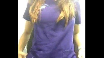 nurse in toilette at work so.