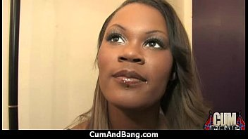 Interracial black slut hardcore group facial 15