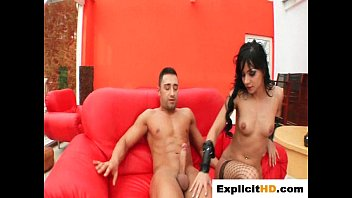 angel gets harsh bootie plow and gulps that jizz