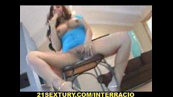 Busty Hispanic-Latin Slut in Sexy Up-skirt Blue Dress Fucking Doggy Style with a