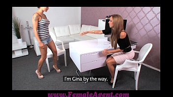 femaleagent unbelievable very first girl/girl casting for gullible cutie