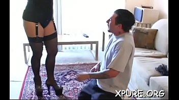 Older guy gets dominated by a couple of breasty honeys