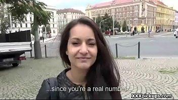 public pickup woman tempts tourist for a fine.