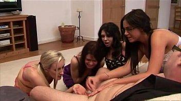 Group cfnm fetish femdom handjob