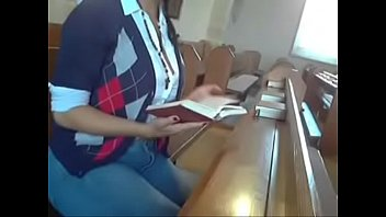Indian Girl does in alone in the Church!
