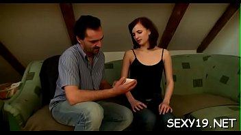 Beauty is having hardcore ottoman sex with hungry elderly teacher