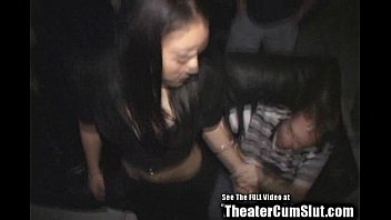 Hot Small Tit Asian Gang Banged in Porno Theater