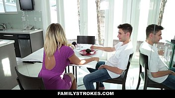 FamilyStrokes - MILF Step Mom Fucks Son