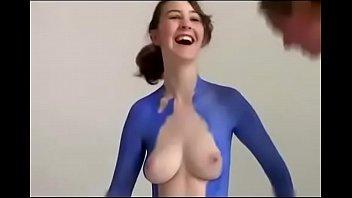 sexy girl full body painting v&uuml_cut boyama