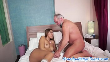 dickloving nubile pussyfucked by lucky elder.
