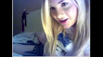 youthful blond gets filthy on webcam.
