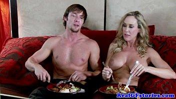 Bigtit housewife loves the taste of cum