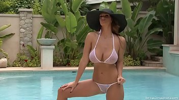 alison tyler - micro bathing suit picture shoot 1