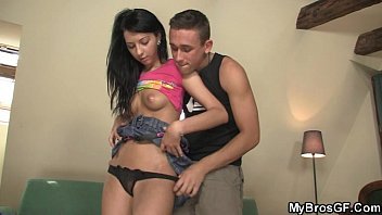 she rails her bf039_s brother-in-law salami and gets splattered