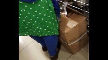 punjabi gigantic backside in a shopping.