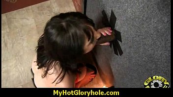 Gloryhole cock licking and sucking interracial 17