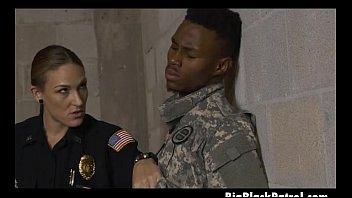 White Female Cops In Uniform Gulping Down Balck Dudes Dink