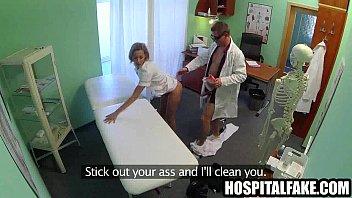 blondie nurse getting her labia cummed in by.