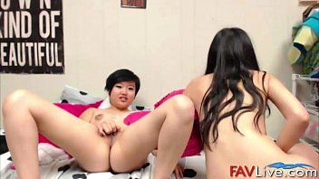 Asian teens fuckable lesbian babes with shaved pussies