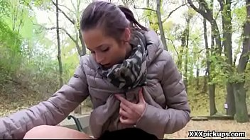 sweetie euro teenage gives head in public for.