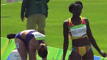 African Ebony Black Track Star Sexy Sway