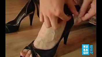 jizz on german housewife boot