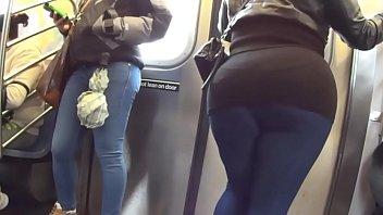 fumble plus-size arse at metro