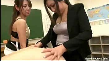 trio educators smashing japanese man