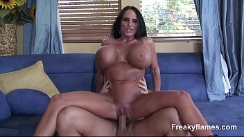 Lustfull Big Tits MILF Filly stepmom likes to swallow enormous white dick till c