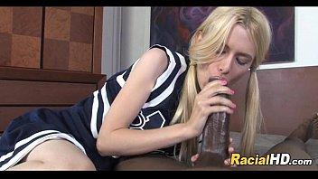 Super Cute Blonde Teen Cheerleader Sucks A Massive Dong