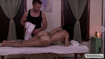 transsexual foxxy ask guy jett parker to rubdown.