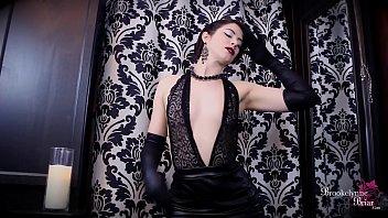 brookelynne briar magnificent leather sundress striptease