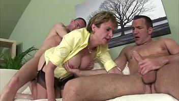 Big tits Lady Sonia gets double cumshot