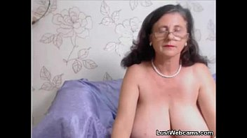 grannie plays with her vag on.