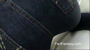 sexy ebony babe farts big in jeans