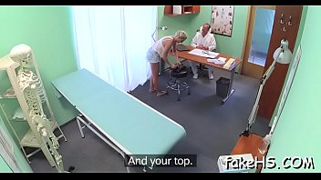 Biggest knob bangs doctor'_s pussy